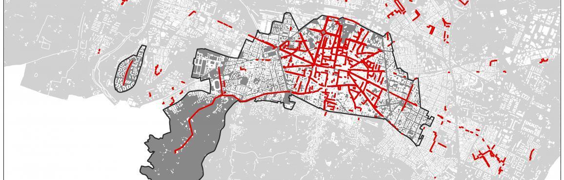 Mappa chilometri portici di Bologna