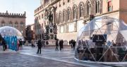 foto ingresso palazzo Re Enzo con scritta Scuola Digitale