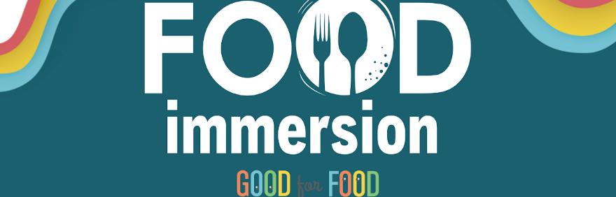 food immersion logo 29 e 30 maggio progetto good for food logo